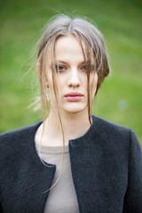 woman fashion model outdoor portrait