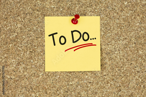 To do… Cork board