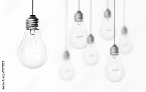 group of light bulbs