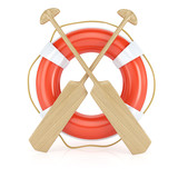 lifebuoy and paddles