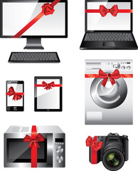 Popular electronic devices packed as presents