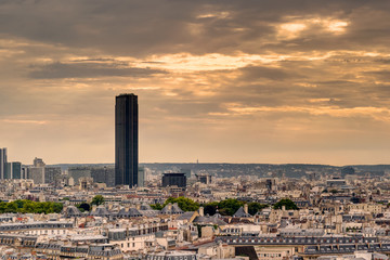 Paris skyline with Maine-Montparnasse Tower