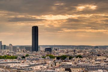 Paris skyline with Maine-Montparnasse Tower