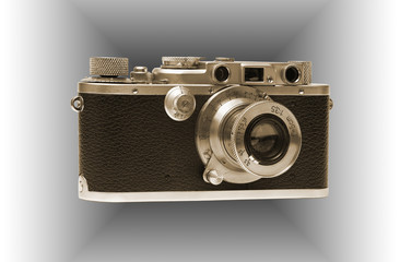 Alte Camera. In sepia tone.
