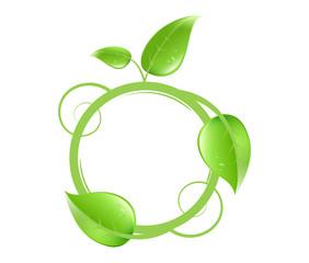 custom bio nature logo