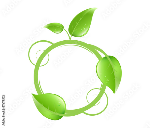 custom bio nature logo