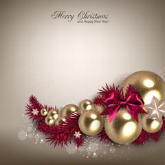 Elegant  background with Christmas garland. Vector illustration