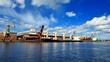 cargo ship loading in port. Ventspils terminal