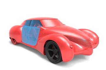 Generic and futurist   model of car