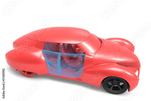 Generic and futurist   model of car