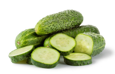 Green delicious cucumber