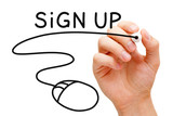 Sign Up Concept