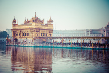 Sikh gurdwara Golden Temple. Amritsar, Punjab, India