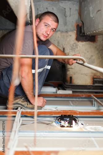 Electrician Man Working