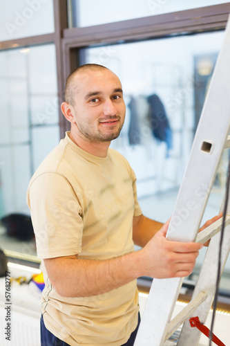 Smiling Electrician Man
