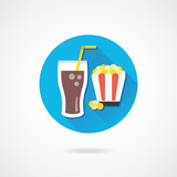 Vector Lemonade and Popcorn Icon