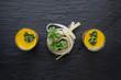 Gaspacho et Spaghetti sur Ardoise