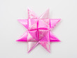 Pink gift star bows with ribbons