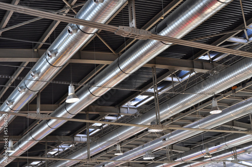 Industrial tube ventilation, air-conditioning