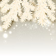 Elegant Christmas background with place for text . Vector illust