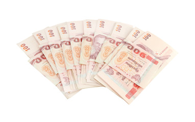 Thai money on white background