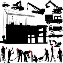 Construction d'un vecteur d'objets ouvrier du bâtiment grue