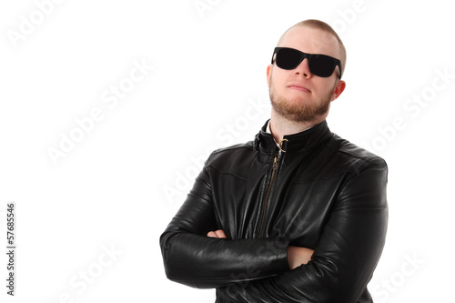 Cool man with sunglasses