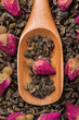 Oolong tea with delicate rose buds