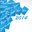 Happy New Year 2014 Blue Wishes