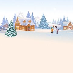 Wintertime background