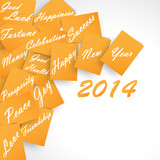 Happy New Year 2014 Orange Wishes