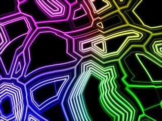 neon circuit scroll