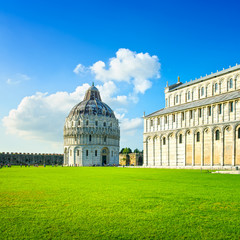 Pisa, Miracle Square. Bapstistry and cathedral. Italy