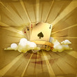 Playing Cards, old style background