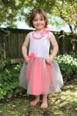 pretty girl in a ballet dress.