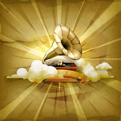 Gramophone, old style background