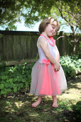 beautiful girl in a tutu.