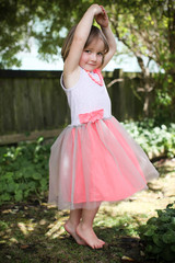beautiful girl in a tutu.