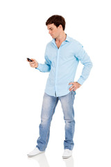 man using his smart phone