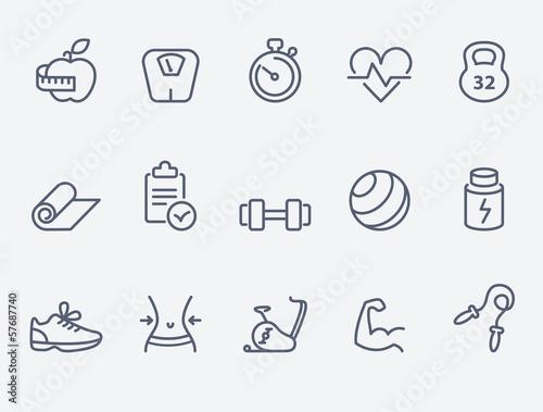 Zdjęcia na płótnie, fototapety, obrazy : Fitness icons
