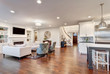 Beautiful Living Room Panorama in New Luxury Home - 57688176