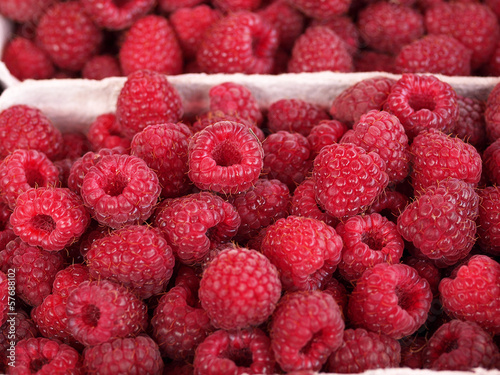 Raspberries - the forest fruits