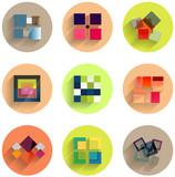 Set of abstract geometric flat icons