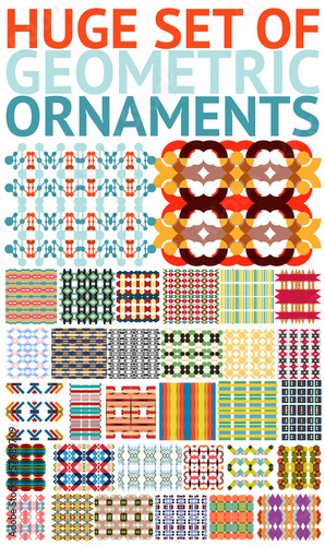 Huge set of abstract geometric ornaments / patterns