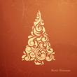 Vector Illustration of a Stylized Christmas Tree