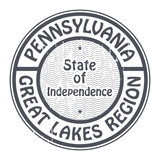 Grunge stamp with name of Pennsylvania, Great lakes region