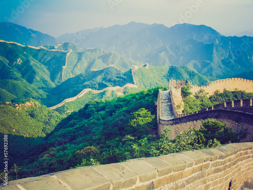 Chinese Great Wall retro look - 57692388