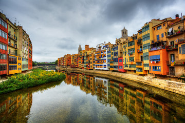 channel in Gerona. Spain.