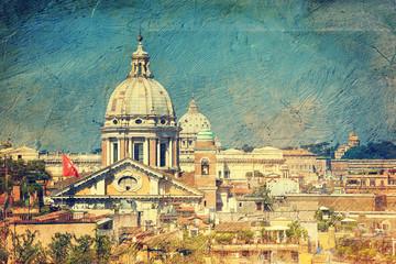 cityscape of Rome. Italy.
