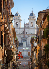 The Spanish Steps in Rome.